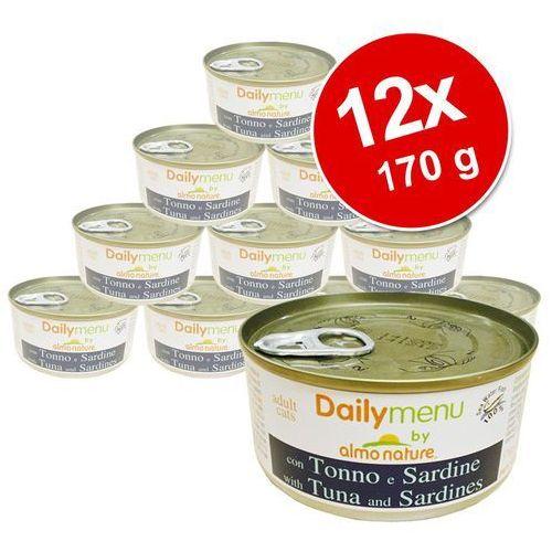 Almo nature daily menu tuńczyk i makrela - puszka 6x(2x170g)