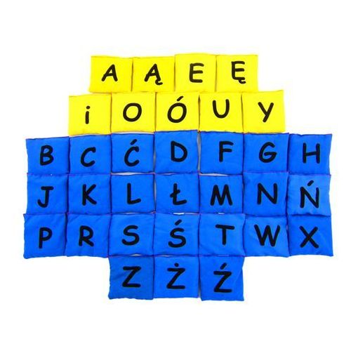 - woreczki gimnastyczne alfabet - samogłoski i spółgłoski marki Akson