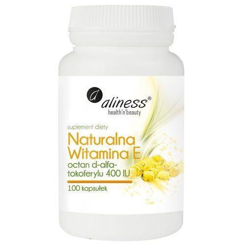 Kapsułki Naturalna Witamina E, 100 kapsułek - witamina młodości – Aliness