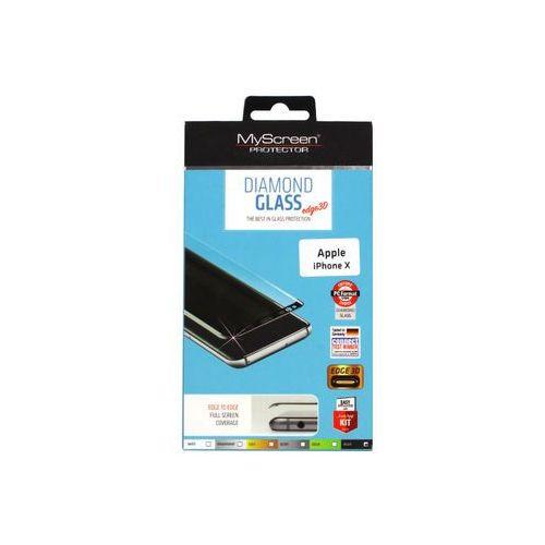 Apple iPhone X - szkło hartowane MyScreen Protector Diamond Glass Edge 3D - czarne, FOAP611FSGLBLK000