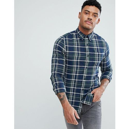 regular fit shirt in blue and green check - blue marki New look