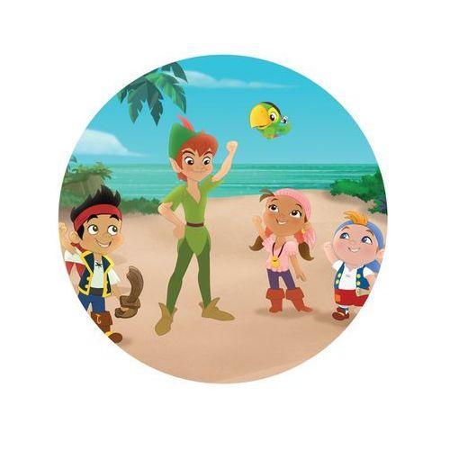 Dekoracyjny opłatek tortowy jake i piraci z nibylandii - 20 cm - 6 marki Modew