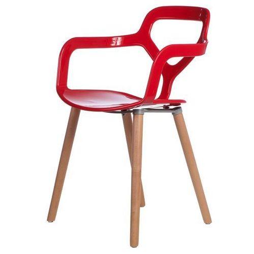 D2.design Krzesło nox wood czerwone