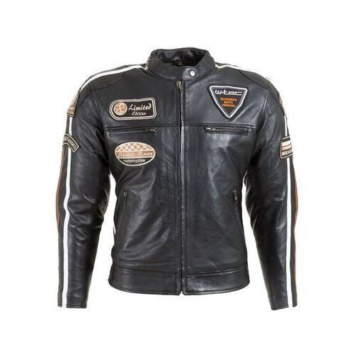 Damska skórzana kurtka motocyklowa W-TEC Sheawen Lady, Czarny, XXL (8596084064394)
