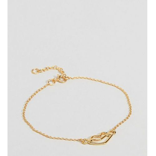 Asos design gold plated sterling silver abstract lips bracelet - gold