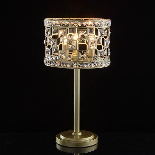 Lampa stołowa klasyczna, złota podstawa, 3-żarówki, kryształy MW-LIGHT Crystal (121031703)