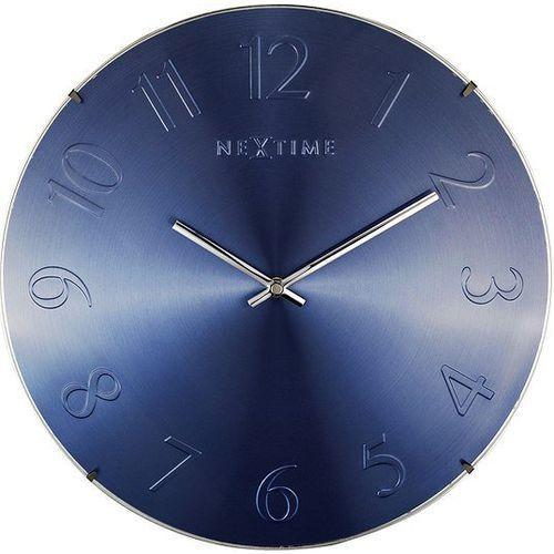 Zegar ścienny Elegant Dome niebieski