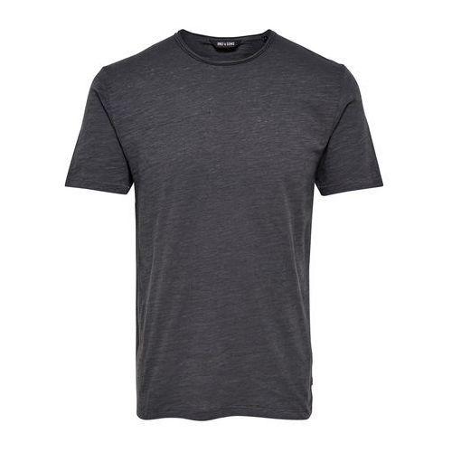 Only & sons Jednokolorowa koszulka z okrągłym wycięciem przy szyi, krótki rękaw