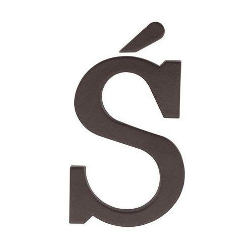 Litera Ś wys. 9 cm PVC brązowa