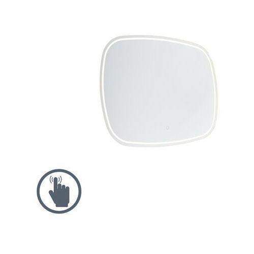 Nowoczesne lustro łazienkowe 60x80 cm z led ze ściemniaczem dotykowym ip44 - miral marki Qazqa