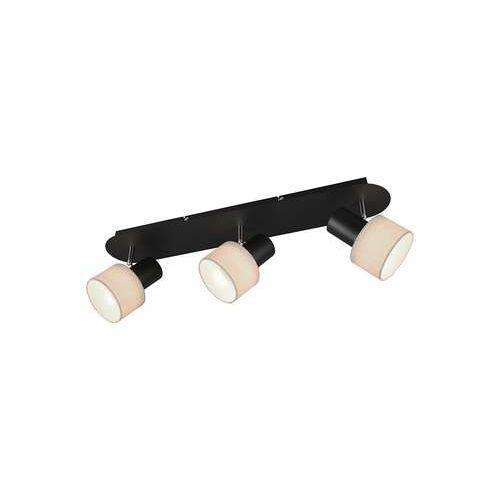 Trio Wailer 803600332 plafon lampa sufitowa 3x5W GU10 czarny/beżowy, kolor Czarny