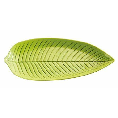 Półmisek z melaminy w kształcie liścia | zielony | różne wymiary marki Aps