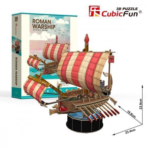 Puzzle 3d żaglowiec roman warship 85 elementów marki Cubicfun