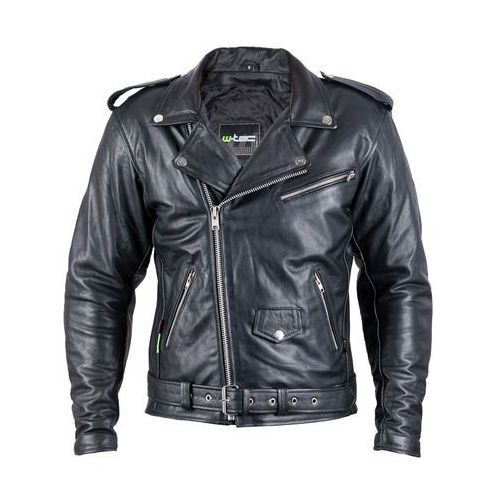 Skórzana kurtka motocyklowa W-TEC Perfectis, Czarny, 5XL, kolor czarny