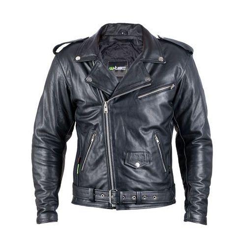 Skórzana kurtka motocyklowa W-TEC Perfectis, Czarny, XL, skóra