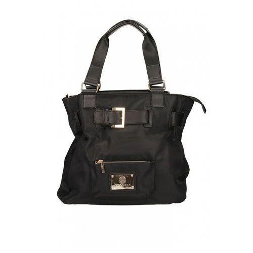 Czarna torebka z ozdobną klamrą - marki Anataka