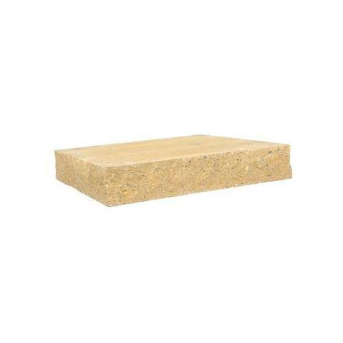 Ziel-bruk Przykrycie słupka 40 x 40 x 7 cm betonowe czterostronnie łupane skała lubuska