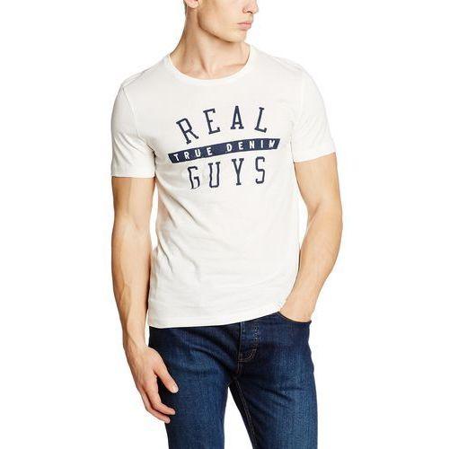 T-shirt MUSTANG Basic Print Tee dla mężczyzn, kolor: beżowy, rozmiar: XX-Large, 1 rozmiar