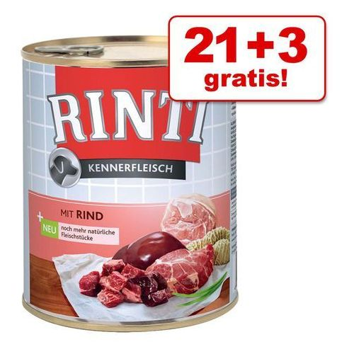 21 + 3 gratis! Rinti Pur, 24 x 800 g - Konina (4000158910882)