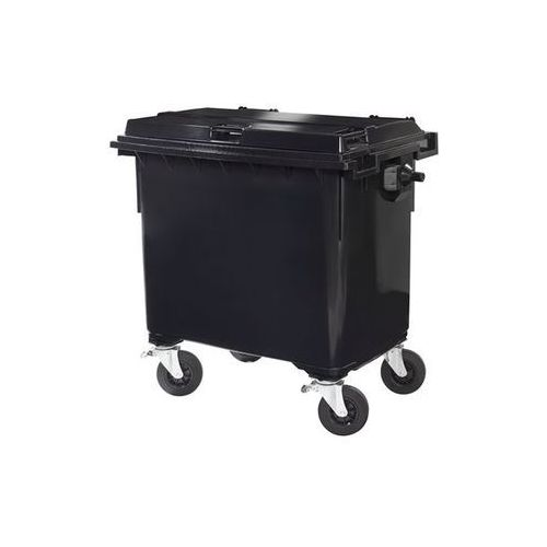 Duży pojemnik z tworzywa na odpady wg pn en 840, poj. 660 l, antracyt, dostawa o marki Schaefer group