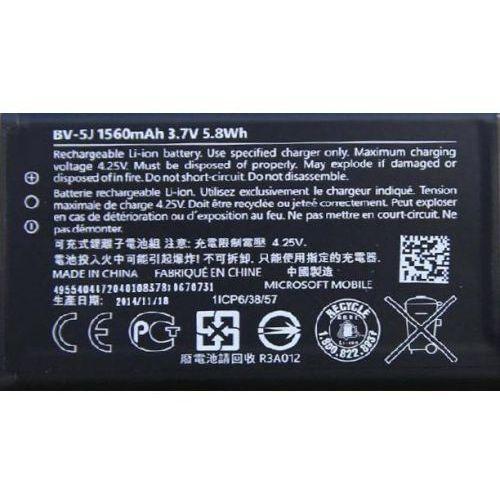 microsoft lumia 435 / bv-5j 1560mah 5.8wh li-polymer 3.7v (oryginalny) marki Nokia