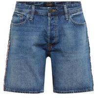 Jack & jones jeansy 'chris' niebieski denim / czerwony / biały