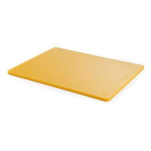 Deska z polietylenu żółta HACCP z podziałką