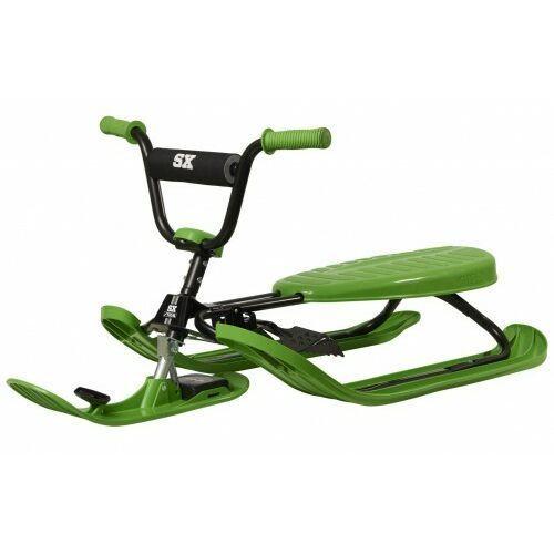 Nartosanki snowracer sx pro zielone - kierownica i hamulec marki Stiga