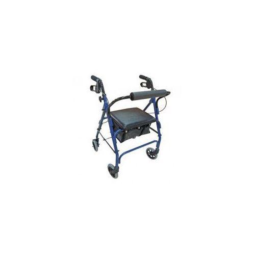 Chodzik czterokołowy z siedziskiem, hamulcami i torbą RF-610, RF-610