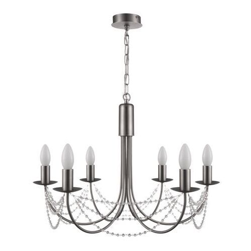 Lampa wisząca GoodHome Suhel 6-punktowa E14 szczotkowany chrom (5036581095833)