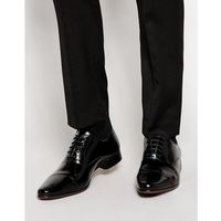 design oxford shoes in black leather with toe cap - black marki Asos