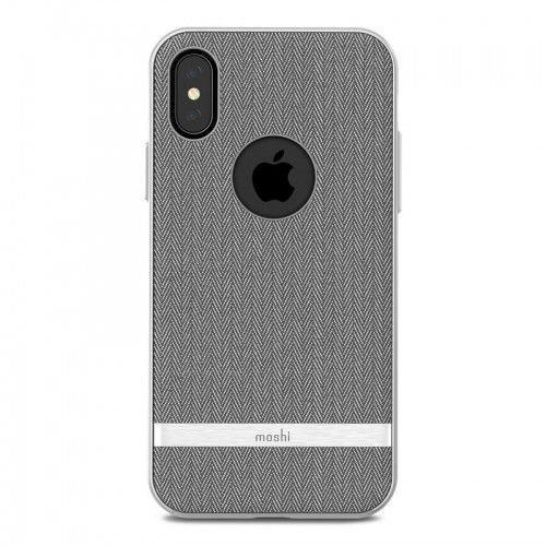 Moshi Vesta - Etui iPhone X (Herringbone Gray), kolor szary