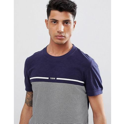 Tom Tailor T-Shirt With Fine Stripe In Blue - Blue, w 3 rozmiarach