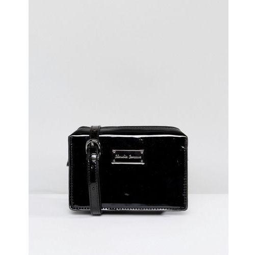Claudia Canova Patent Across Body Bag - Black, kolor czarny
