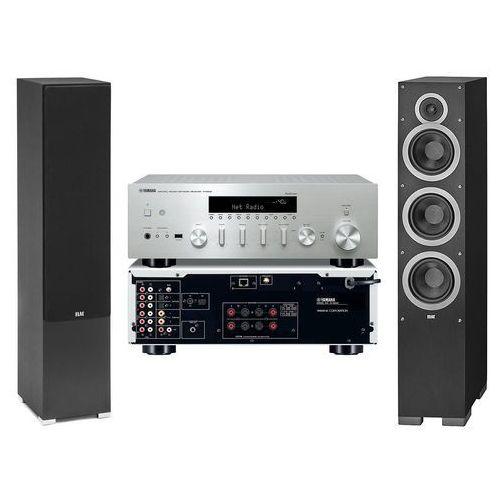 Yamaha Zestaw stereo r-n602 + elac debut f6.2 czarny darmowy transport