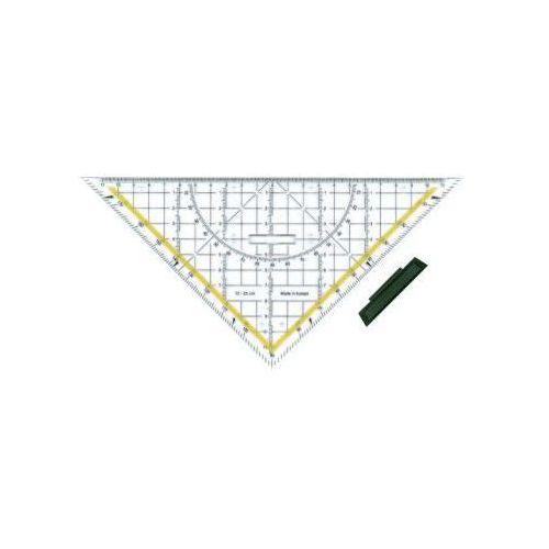 Przybory kreślarskie Ekierka geo-trójkąt zdejmowany uchwyt 25cm x1