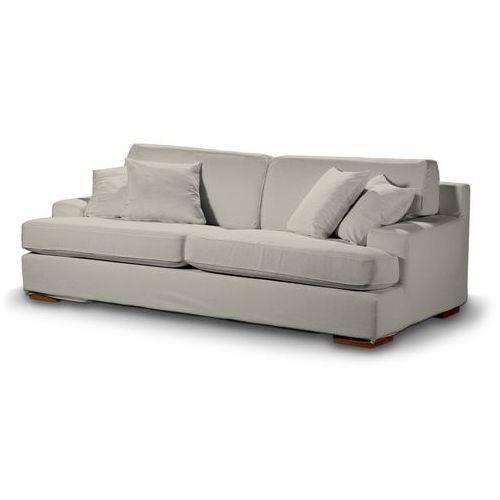 Dekoria Pokrowiec na sofę Göteborg nierozkładaną, beżowo-szary szenil, Sofa Göteborg nierozkładana, Vintage
