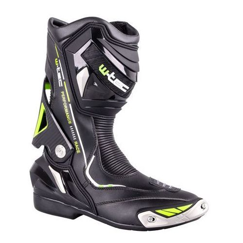 Skórzane buty motocyklowe W-TEC Hernot W-3015, Czarny-fluo żółty, 43 (8596084050489)