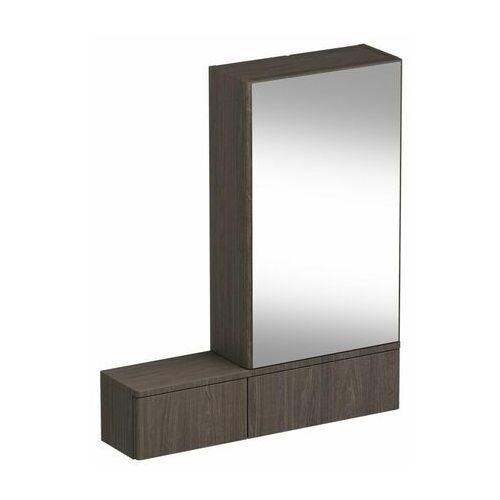 Koło Nova pro szafka wisząca 70 8 x 85 x 17 6 cm z lustrem lewa szary jesion - 88441000 (5906976556792)