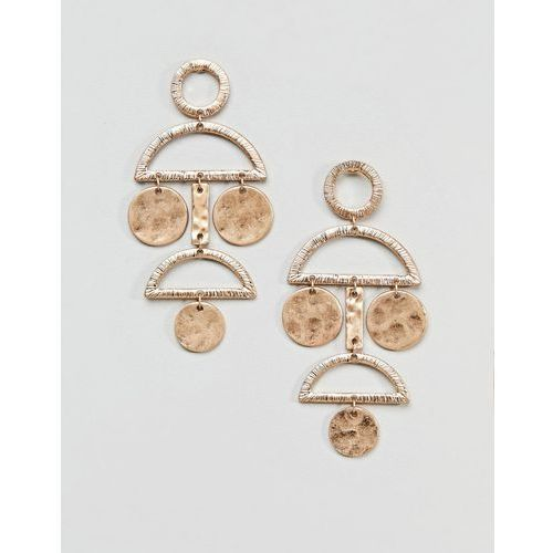 Pieces disc earrings - gold