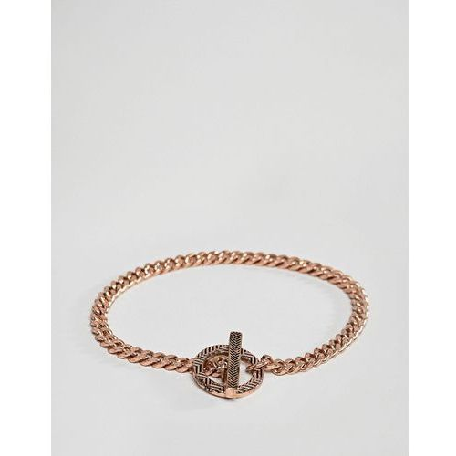 Icon Brand gold chain bracelet with ring closure - Silver, kolor szary