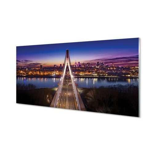 Tulup.pl Obrazy akrylowe warszawa most rzeka panorama