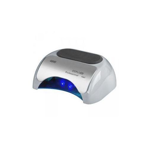 Lampa professional 2w1 uv led+ccfl 48w timer+sensor srebrna marki Vanity_a