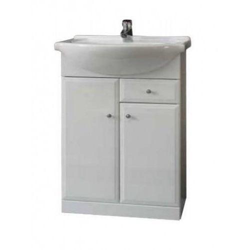 milena zestaw szafka z umywalką roberto 65, biały 032-d-06501+1522 marki Deftrans