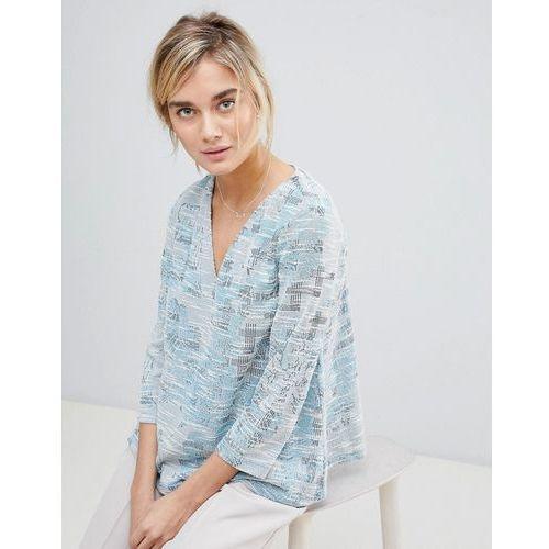 See U Soon Top in Tapestry Weave Fabric - Blue, kolor niebieski