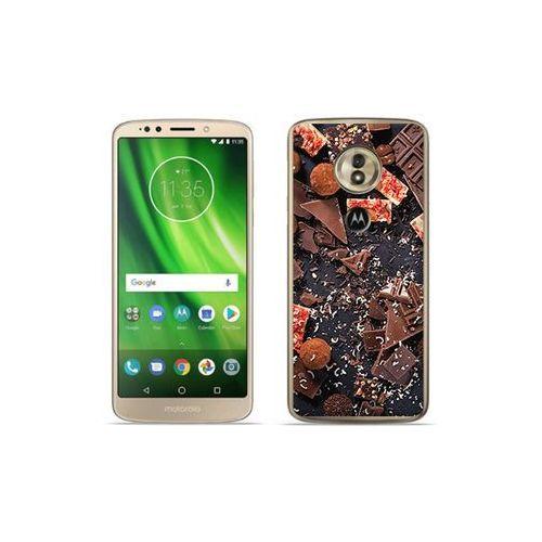 etuo Foto Case - Motorola Moto G6 Play - etui na telefon Foto Case - kawałki czekolady, kolor brązowy