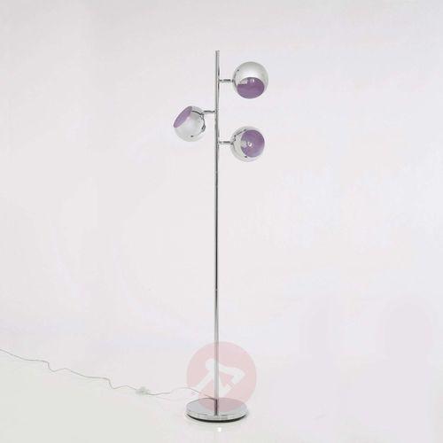 3-punktowa lampa stojąca CALOTTA styl retro chrom (4025621698418)