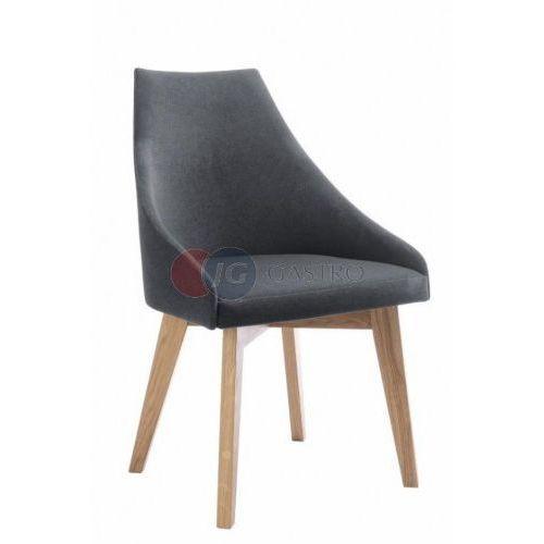 Krzesło bez podłokietnika dąb b-polo marki Paged