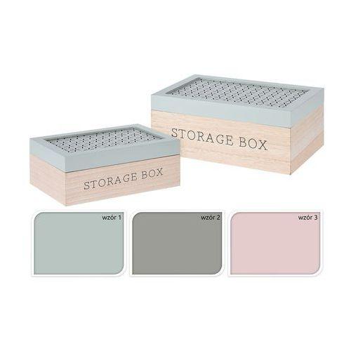 pudełka dekoracyjne kpl. 2 szt.
