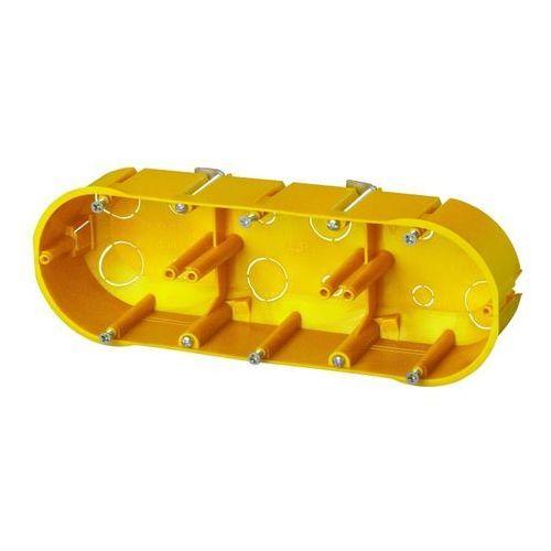 Puszka podtynkowa potrójna 60mm regips żółta PK-3x60 0234-0N ELEKTRO-PLAST NASIELSK, 0234-0N